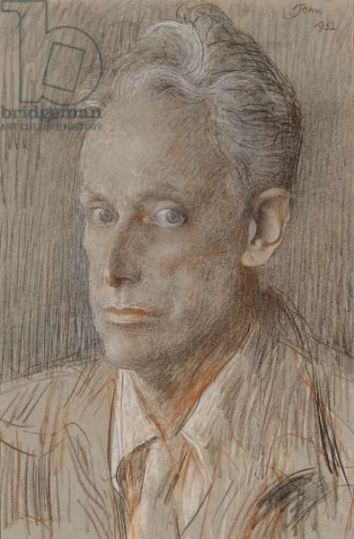 Portrait of Dr. Hubert Noel, 1952 (coloured chalks on grey laid paper)