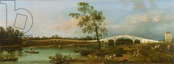 Old Walton's Bridge, 1755 (oil on canvas)