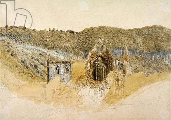 Tintern Abbey, 1835 (w/c gouache with pen & ink and pencil on paper)