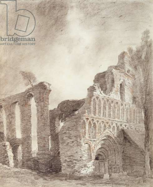 Ruin of St. Botolph's Priory, Colchester, c.1809 (chalk and pencil on paper)
