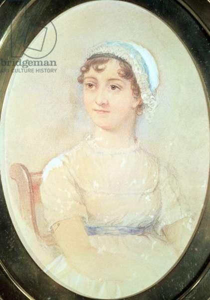 Portrait of Jane Austen (1775-1817) (w/c on paper)