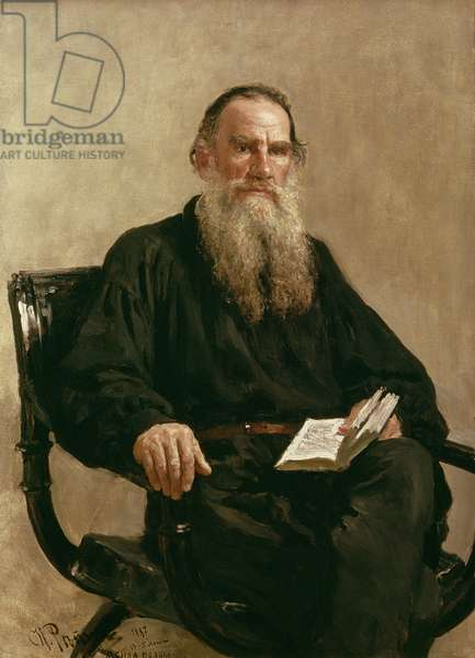 Lev Tolstoy (1828-1910) 1887 (oil on canvas)