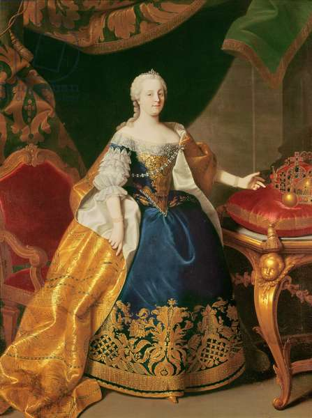 Portrait of the Empress Maria Theresa of Austria (1717-80) (oil on canvas)
