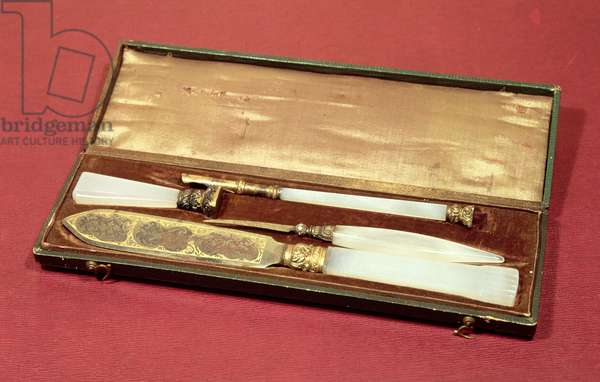 Writing set given to his wife, Eveline Hanska by Honore de Balzac (1799-1850)