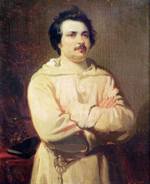 Honore de Balzac (1799-1850) in his Monk's Habit, 1829 (oil on canvas)