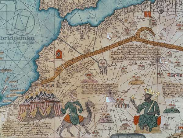 Detail from the Catalan Atlas, 1375 (vellum) (detail of 151844)