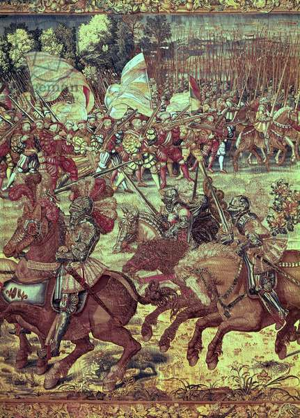 The Battle of Pavia, 24 February 1525 (tapestry) (detail of 156716)