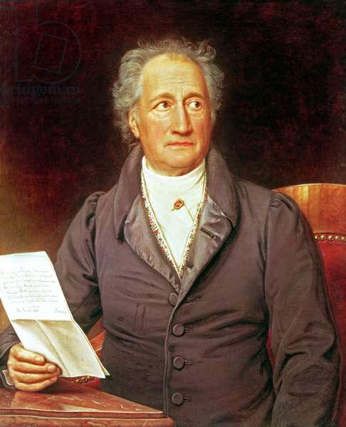 Johann Wolfgang von Goethe (1749-1832) 1828 (oil on canvas)