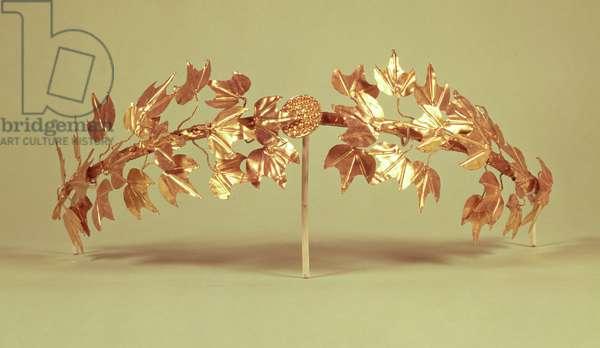 Laurel wreath, Mycenae (gold)