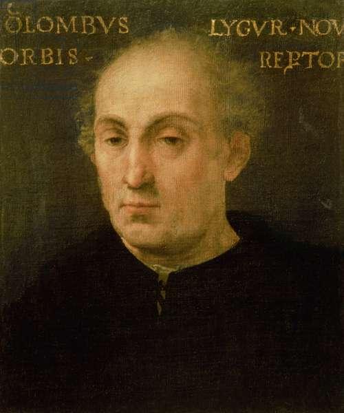 Portrait of Christopher Columbus (1451-1506) (oil on panel)