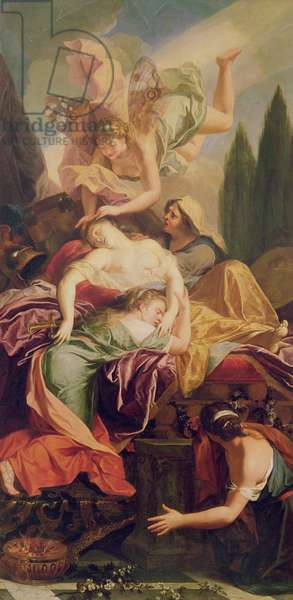The Death of Dido (oil on canvas)