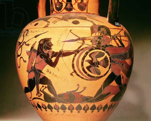 Heracles fighting Geryon (ceramic)