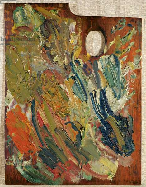 Palette with which van Gogh painted 'Marguerite Gachet at the Piano', 1890