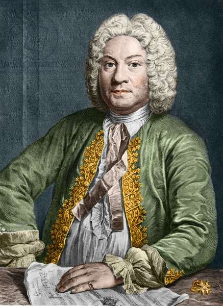 portrait of François Couperin (1668-1733), dit Couperin le Grand, French composer and harpsichord.