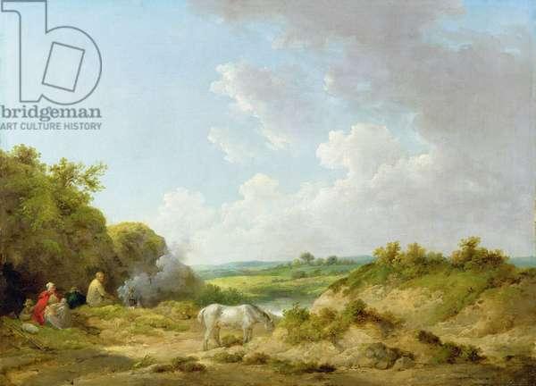 A Gypsy Encampment, 1788-98 (oil on canvas)