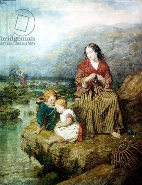 The Young Fishermen, 1862 (oil on canvas)