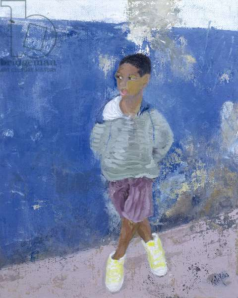 New Trainers, Havana, Cuba (oil on canvas)