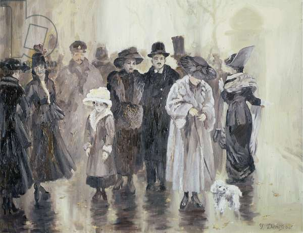 The Rain (oil on canvas)
