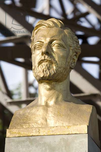 Bust of Gustave Eiffel (1832-1923), engineer, French industrialist, Designer of the Machine Gallery, Garabit viaduct, the Eiffel Tower. Sculpture by Antoine Bourdelle (1861-1929). Photography, KIM Youngtae/Leemage