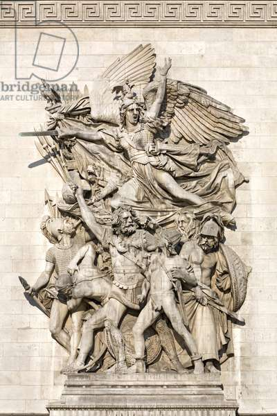 The beginning of the volunteers of 1792, known as La Marseillaise, high relief on the Arc de Triomphe de l'Etoile by Francois Rude (1784-1855). 1833-1836. Photography, KIM Youngtae, Paris.