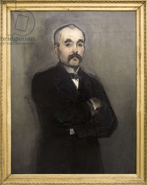 Portrait of Georges Clemenceau (1841-1929), French politician, Oil painting on canvas by Edouard Manet (1832-1883). Photography, KIM Youngtae, Paris, Musee d'Orsay.