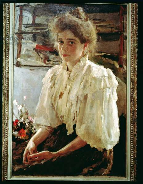 Portrait of Madame Lwoff, 1895 (oil on canvas)