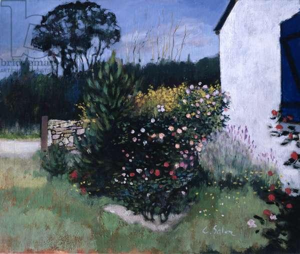 The Rosebush (oil on canvas)
