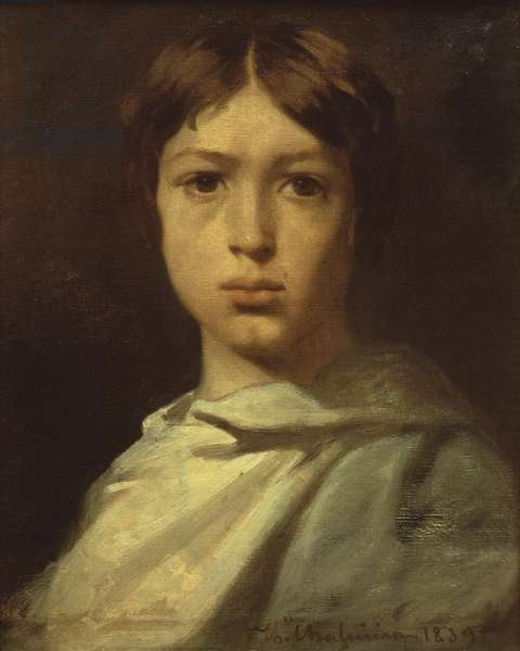 Portrait of a Young Boy, or The Artist's Colour Grinder, 1839 (oil on canvas)