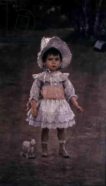 Simone in the Bois de Boulogne, 1888 (oil on canvas)