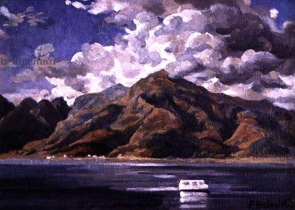 Lake  Yamanaka-Ko, Mount Fuji, Japan (oil on canvas)