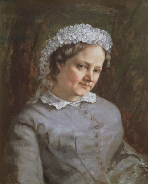 Portrait of Madame Prudhon (oil on canvas)