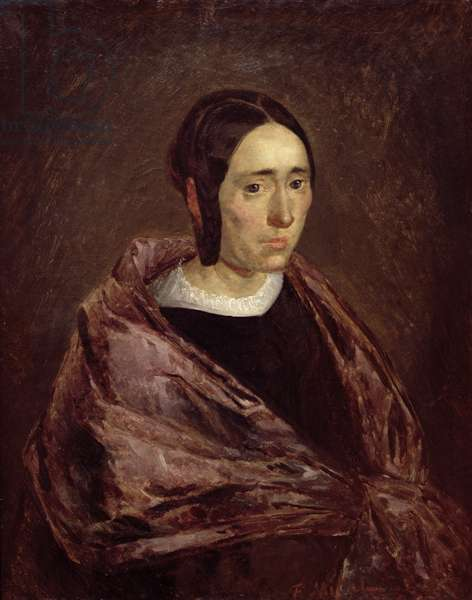 Portrait of Catherine Roumy (oil on canvas)