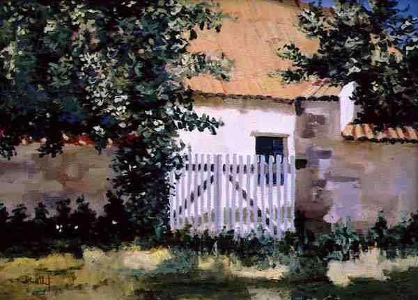 The Sunny Gate (oil on canvas)