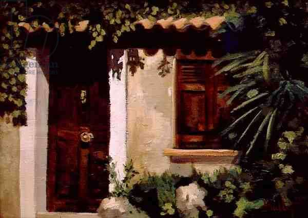 Door and Window in Provence (oil on canvas)