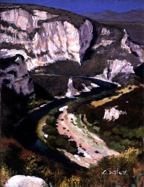 The Gorge of Ardeche (oil on canvas)