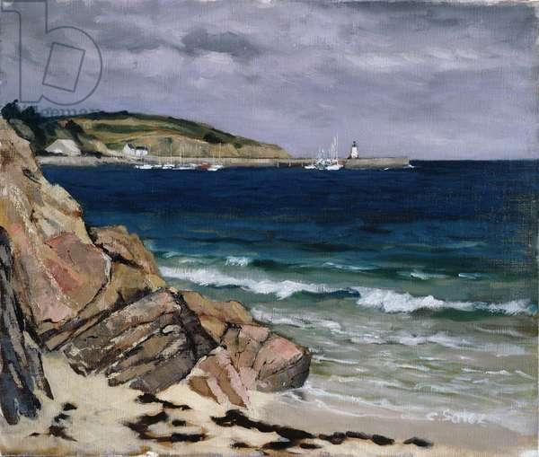 Ile d'Houat, Morbihan (oil on canvas)