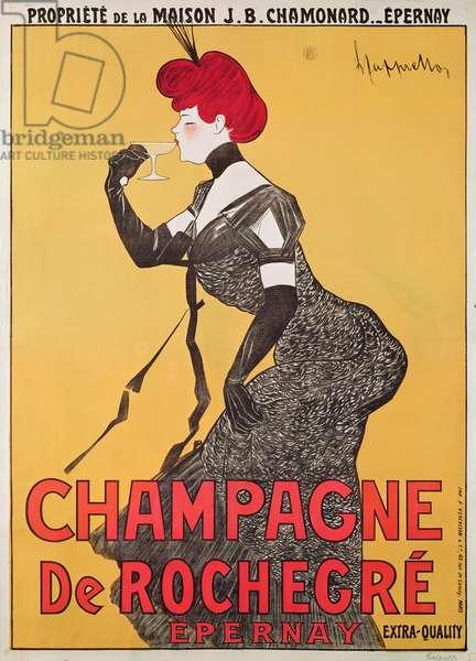 Poster advertising Champagne de Rochegre (colour litho)