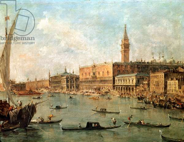 Venice: The Doge's Palace and the Molo from the Basin of San Marco, c.1770 (oil on canvas)