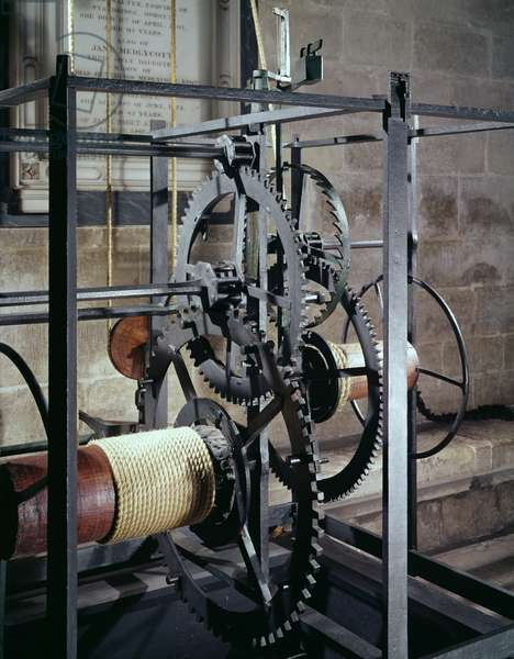 Cathedral clock made for the tower in Salisbury Cathedral, 1386