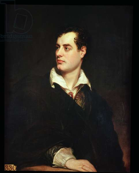 Portrait of Lord Byron (1788-1824) (oil on canvas)