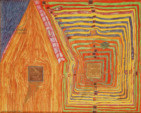 The Neighbours II - Spiral Sun and Moon House, 1963 (mixed media)