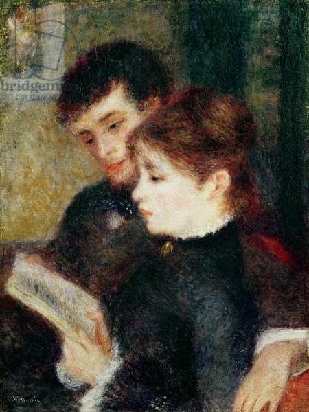 Couple Reading (Edmond Renoir and Marguerite Legrand)