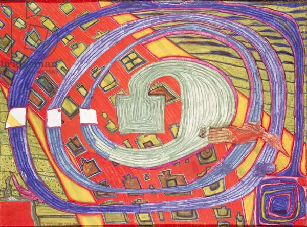 House in the Wind I, 1962 (mixed media)