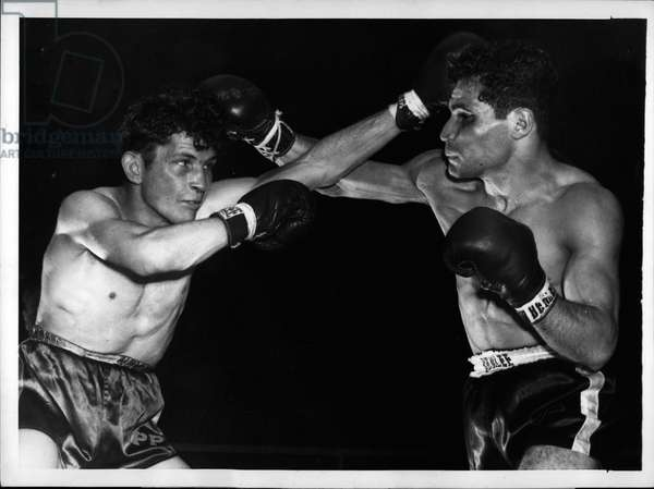 Apr. 04, 1953 - Cohen beat Gault in 10 rounds at the Palais des Sports in Paris. Brigitte Bardot with Jack Palance in Constant