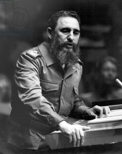 Oct. 10, 1979 - Cuban Premier Fidel Castro addressed the United Nations General Assembly