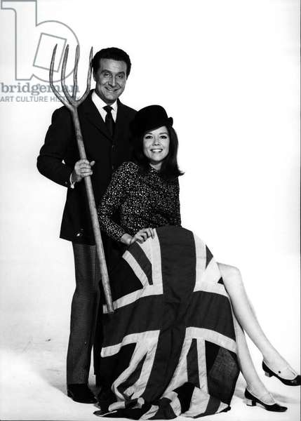 1960's - The Avengers - TV series, Patrick Macnee (1922-2015) and Diana Rigg
