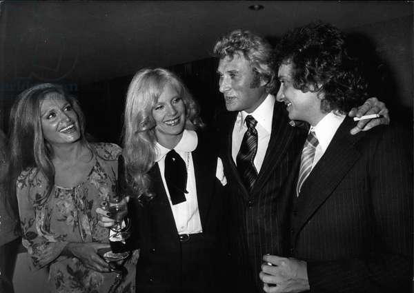 Oct. 13, 1977 - Sylvie Vartan with Johnny Hallyday, Michel Sardou, and Dalida - Palais de congrès in Paris