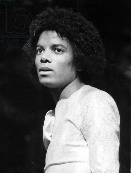 Feb. 27, 1979 - London, England, U.K. - The 'King of Pop,' MICHAEL JACKSON on stage before The Jacksons first concert at The Rainbow Theatre.