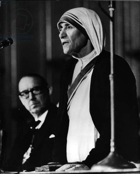 mother Teresa (Theresa) - Apr. 04, 1973 - 34,000 award for mother Teresa: Mother Teresa, whose work among the Homeless Millions of India, was Honoured at London's Guildhall last night, when the Duke of Edinburgh presented her with a £34,000 prize- The first annual Templeton Foundation Prize for progress in Religion which was inaugurated last year by an American business man. Mother Teresa says the money will help her work as head of the Order of Missionaries of Charity