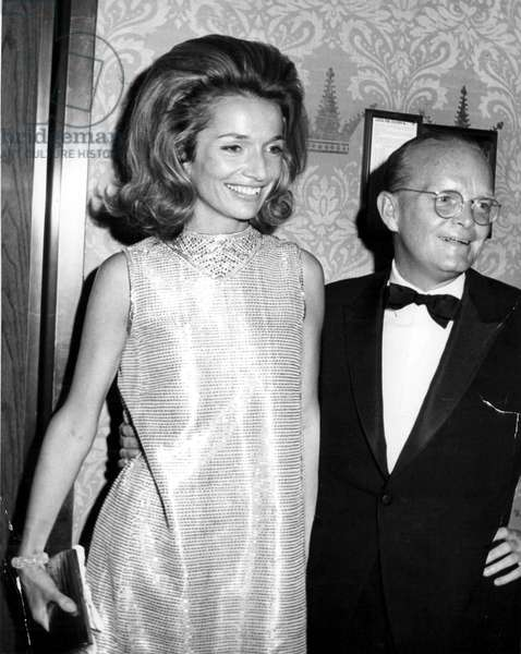 Portrait of Truman Capote and Lee Radziwill around 1970